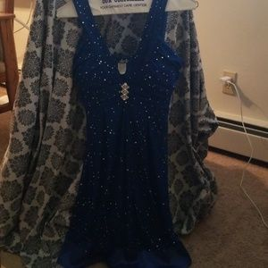 Sparkly blue winter formal/homecoming dress